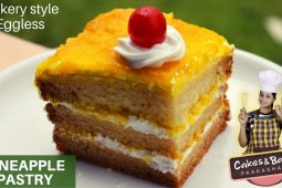 Eggless pineapple pastry cake recipe in Kannada