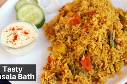 Tasty and easy Masala Bath Recipe