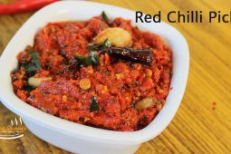 Red chilli pickle recipe | instant red chilli chutney