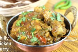 Green chilly chicken curry | Dhaba style green chicken curry